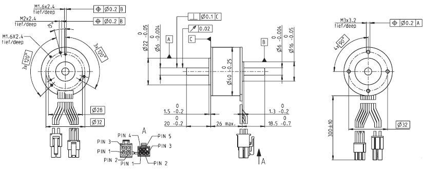 EC-i 40 339241, Бесколлекторный двигатель постоянного тока серии EC-i 40, диаметр 40 мм, мощность 50Вт.